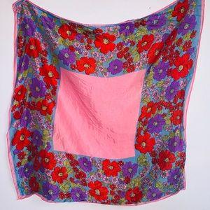 Vintage pink floral scarf
